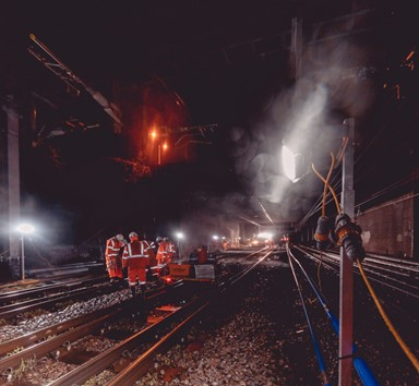 "Network Rail and Colas Achieve near Emissions-free ""Site of the Future"""