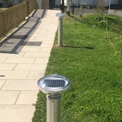 St Bollards In Housing Development