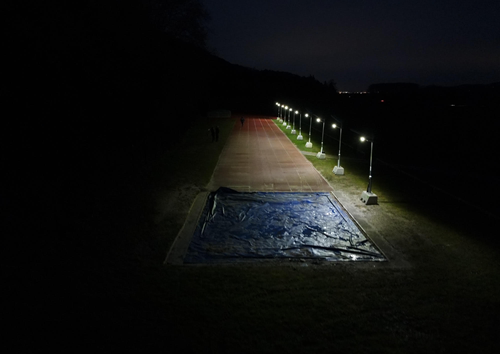 Prolectric lights up the North Somerset Athletic Club' running track