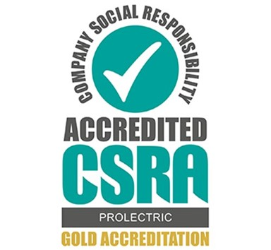 Prolectric awarded Gold CSR Accreditation